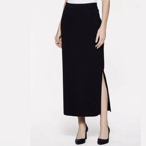 Misook XL black maxi skirt with side slit